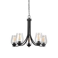 Bowery + Grove 51456-BCS Allison 5 Light 26 inch Blacksmith Chandelier Ceiling Light