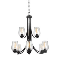 Bowery + Grove 51285-BCS Allison 9 Light 32 inch Blacksmith Chandelier Ceiling Light