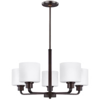 Bowery + Grove 52404-BSEW Eustace 5 Light 24 inch Burnt Sienna Chandelier Ceiling Light