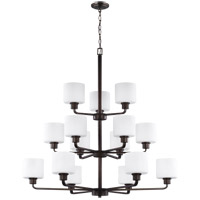 Bowery + Grove 52412-BSEW Eustace 15 Light 40 inch Burnt Sienna Chandelier Ceiling Light