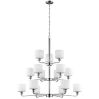 Bowery + Grove 52413-BNEW Eustace 15 Light 40 inch Brushed Nickel Chandelier Ceiling Light