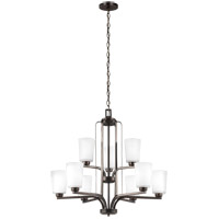 Bowery + Grove 52475-BSEW Broome 9 Light 30 inch Burnt Sienna Chandelier Ceiling Light