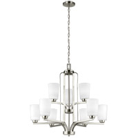 Bowery + Grove 52476-BNEW Broome 9 Light 30 inch Brushed Nickel Chandelier Ceiling Light