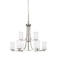 Bowery + Grove 52590-BNEW Buffalo Gap 9 Light 30 inch Brushed Nickel Chandelier Ceiling Light