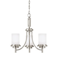 Bowery + Grove 52989-BNSE Alba 3 Light 21 inch Brushed Nickel Chandelier Ceiling Light