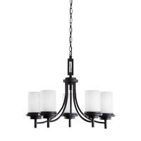 Bowery + Grove 52990-BSE Alba 5 Light 25 inch Blacksmith Chandelier Ceiling Light