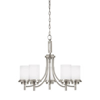 Bowery + Grove 52991-BNSE Alba 5 Light 25 inch Brushed Nickel Chandelier Ceiling Light