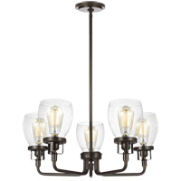Bowery + Grove 53391-HBCS Luca 5 Light 24 inch Heirloom Bronze Chandelier Ceiling Light