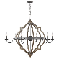 Bowery + Grove 51298-S Bastrop 6 Light 40 inch Stardust Chandelier Ceiling Light