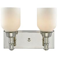 Bowery + Grove 56655-PNOW Albany 2 Light 12 inch Polished Nickel Vanity Light Wall Light