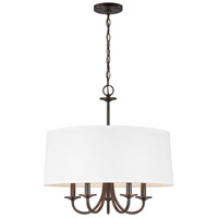 Bowery + Grove 53408-BS Alma 5 Light 22 inch Burnt Sienna Chandelier Ceiling Light
