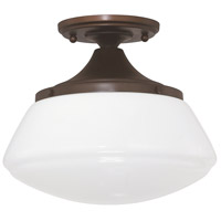 Bowery + Grove 55002-BBWG Bettie 1 Light 10 inch Burnished Bronze Semi-Flush Mount Ceiling Light