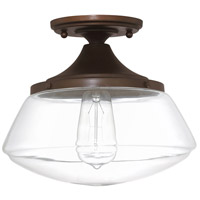 Bowery + Grove 55003-BBCG Bettie 1 Light 10 inch Burnished Bronze Semi-Flush Mount Ceiling Light