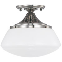Bowery + Grove 55004-PNWG Bettie 1 Light 10 inch Polished Nickel Semi-Flush Mount Ceiling Light