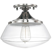 Bowery + Grove 55005-PNCG Bettie 1 Light 10 inch Polished Nickel Semi-Flush Mount Ceiling Light