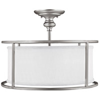 Bowery + Grove 55008-MNFD Alanda Pl 3 Light 17 inch Matte Nickel Semi-Flush Mount Ceiling Light