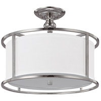 Bowery + Grove 55009-PNFD Alanda Pl 3 Light 17 inch Polished Nickel Semi-Flush Mount Ceiling Light
