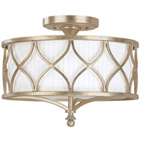 Bowery + Grove 55012-WGFG Burleigh 3 Light 15 inch Winter Gold Semi-Flush Mount Ceiling Light