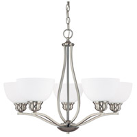 Bowery + Grove 55018-BNSW Peckham 5 Light 27 inch Brushed Nickel Chandelier Ceiling Light