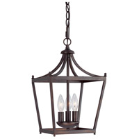 Bowery + Grove 55019-BB Peckham 3 Light 10 inch Burnished Bronze Foyer Ceiling Light
