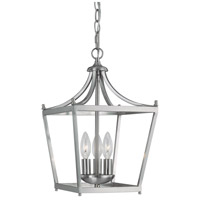 Bowery + Grove 55020-BN Peckham 3 Light 10 inch Brushed Nickel Foyer Ceiling Light