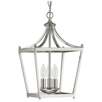 Bowery + Grove 55021-PN Peckham 3 Light 10 inch Polished Nickel Foyer Pendant Ceiling Light