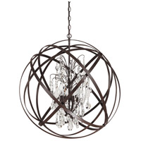 Bowery + Grove 55032-RI Gardenside Ln 6 Light 30 inch Russet Pendant Ceiling Light