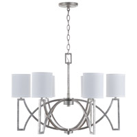 Bowery + Grove 54904-ASI Amado 6 Light 30 inch Antique Silver Chandelier Ceiling Light