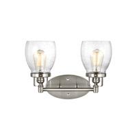 Bowery + Grove 51304-BNCS Luca 2 Light 15 inch Brushed Nickel Bath Vanity Light Wall Light