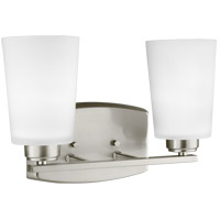 Bowery + Grove 52486-BNEW Broome 2 Light 13 inch Brushed Nickel Wall Bath Fixture Wall Light