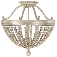 Bowery + Grove 55035-SQ Castilla 3 Light 16 inch Silver Quartz Semi-Flush Mount Ceiling Light