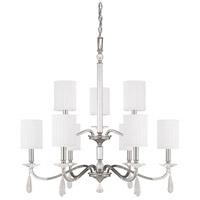 Bowery + Grove 55038-PNI Lyndhurst 9 Light 33 inch Polished Nickel Chandelier Ceiling Light