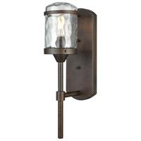 Bowery + Grove 50196-HBW Jeremiah 1 Light 17 inch Hazelnut Bronze Outdoor Sconce