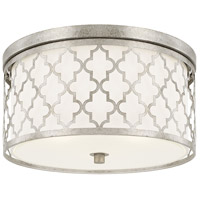 Bowery + Grove 55043-ASGD Graves Ave 3 Light 16 inch Antique Silver Flush Mount Ceiling Light