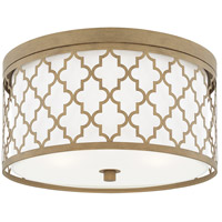 Bowery + Grove 55044-BGGD Graves Ave 3 Light 16 inch Brushed Gold Flush Mount Ceiling Light