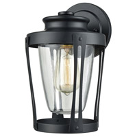Bowery + Grove 50199-MBC Salon 1 Light 11 inch Matte Black Outdoor Sconce