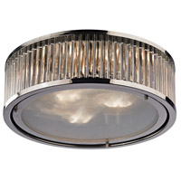 Bowery + Grove 50200-PN Gallarate 3 Light 16 inch Polished Nickel Flush Mount Ceiling Light
