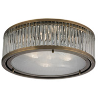 Bowery + Grove 50205-AB Gallarate 3 Light 16 inch Aged Brass Flush Mount Ceiling Light