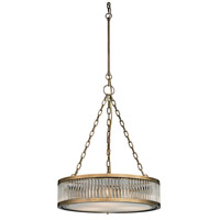 Bowery + Grove 56892-AB Gallarate 3 Light 20 inch Aged Brass Chandelier Ceiling Light