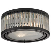 Bowery + Grove 50206-OR Gallarate 2 Light 12 inch Oil Rubbed Bronze Flush Mount Ceiling Light