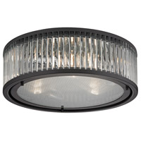 Bowery + Grove 50207-OR Gallarate 3 Light 16 inch Oil Rubbed Bronze Flush Mount Ceiling Light