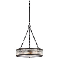 Bowery + Grove 50208-OR Gallarate 3 Light 20 inch Oil Rubbed Bronze Chandelier Ceiling Light