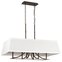 Bowery + Grove 55045-BB Nasim 6 Light 36 inch Burnished Bronze Island Ceiling Light