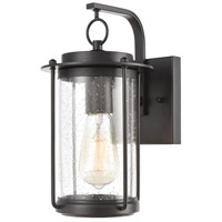 Bowery + Grove 50215-MBSI Bremond 1 Light 12 inch Matte Black Outdoor Sconce
