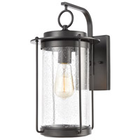 Bowery + Grove 50216-MBSI Bremond 1 Light 15 inch Matte Black Outdoor Sconce