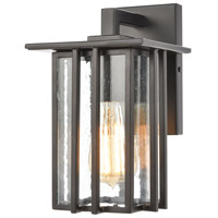Bowery + Grove 50223-MBSI Brough 1 Light 10 inch Matte Black Outdoor Sconce