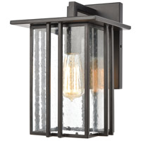 Bowery + Grove 50224-MBSI Brough 1 Light 12 inch Matte Black Outdoor Sconce
