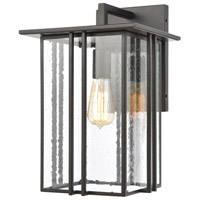 Bowery + Grove 50069-MBSI Brough 1 Light 16 inch Matte Black Outdoor Sconce