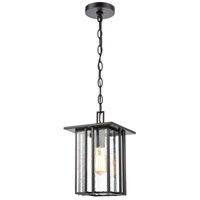 Bowery + Grove 50070-MBSI Brough 1 Light 8 inch Matte Black Outdoor Hanging Light