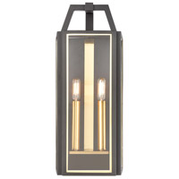Bowery + Grove 50225-CBCI Winstead 2 Light 21 inch Charcoal/Brushed Brass Outdoor Sconce